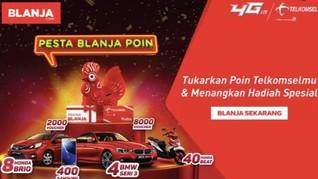 Serbu Pesta BLANJA Poin dari BLANJA.com dan Telkomsel