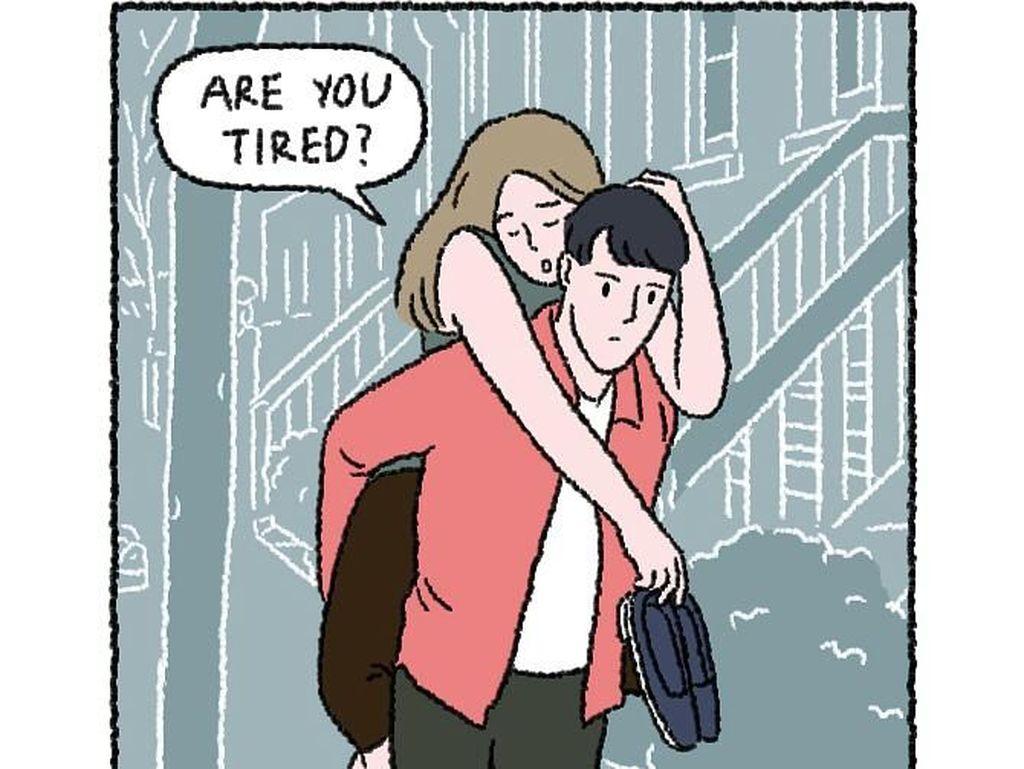 10 Potret Ilustrasi Manis Ini Gambarkan Kehidupan Romantis Pengantin Baru