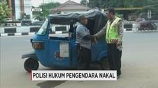 Kilas Nusantara: Polisi Hukum Pengendara, Pemusnahan Narkoba