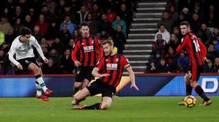 Babak I: Liverpool Unggul 3-0 atas Bournemouth