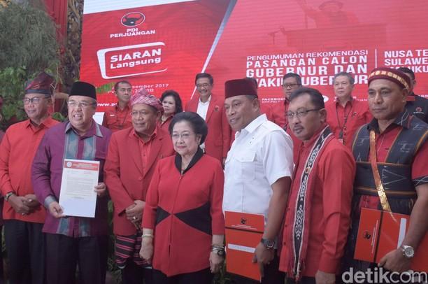 Foto: Ini Jagoan PDIP di Pilkada Riau, NTT, Maluku dan Sultra