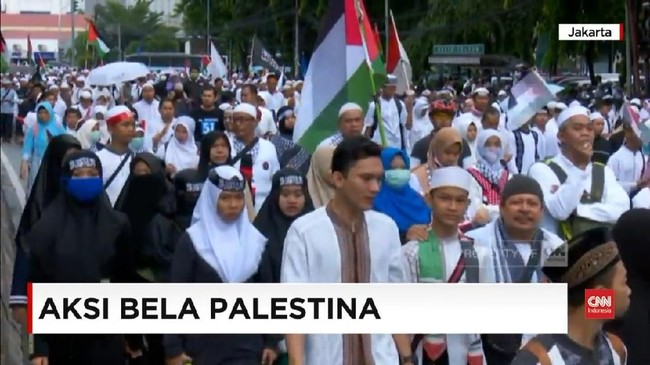 VIDEO: Aksi Bela Palestina 1712 di Monas
