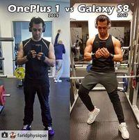 Yang satu ini bahkan tidak menunjukkan perbedaan apapun selain ponsel yang digunakan. (instagram @bodybuildingback)