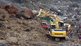 Longsor Tewaskan Delapan Penambang Pasir di Lereng Merapi