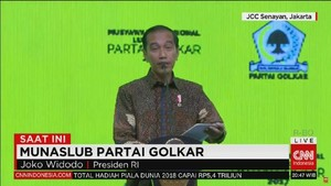 VIDEO: Jokowi Sebut Golkar Punya Kekuatan Merata hingga RT