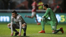 FOTO: Manchester United Kalah dari Bristol City