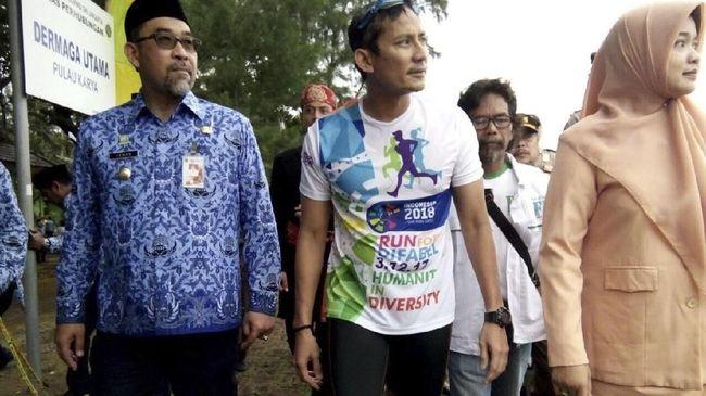 Sandiaga Ajak Menteri Susi 'Ngantor' di Kepulauan Seribu