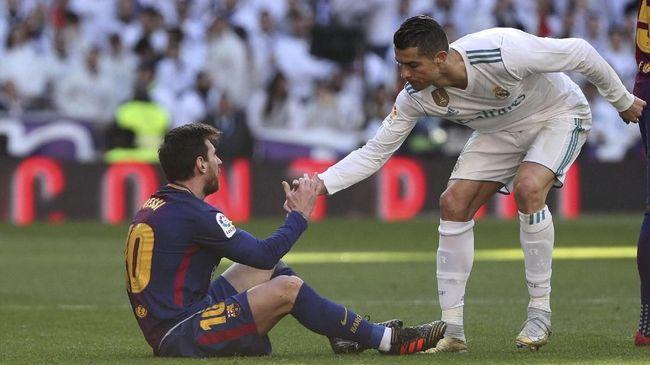 Keluarga Ronaldo Haramkan Nama Messi di Rumah