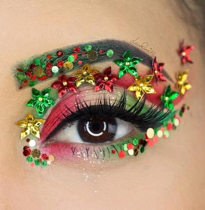 Foto: Cantiknya Makeup Mata Bertema Natal