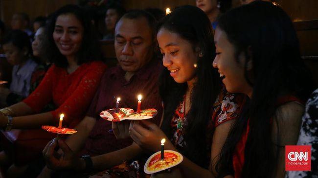 Malam Natal di Berbagai Daerah Indonesia Dilaporkan Aman