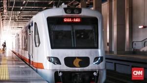 FOTO: Uji Coba Kereta Bandara
