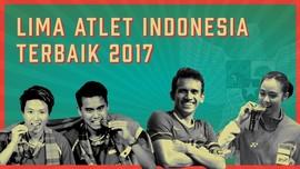 INFOGRAFIS: 5 Atlet Terbaik Indonesia di 2017