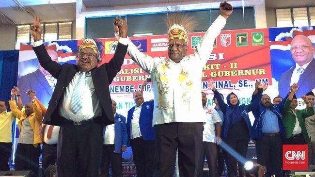 Lukas Enembe-Klemen Tinal Menang Pilgub Papua 2018
