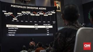 Awal Tahun, Investor Asing Sudah Borong Saham Rp6,4 Triliun
