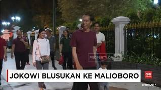 VIDEO: Jokowi dan Keluarga Blusukan di Malioboro