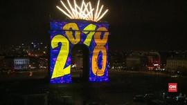 VIDEO: Perayaan Tahun Baru 2018 di Paris Dijaga Ketat