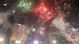 VIDEO: Keramaian Pesta Tahun Baru di Bundaran HI