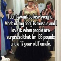 Tidak ingin kurus karena komposisi massa tubuhnya didominasi otot. Hmmm.. masuk akal sih. (Whisper, anonim)