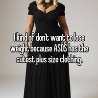 Model yang kece di salah satu brand fashion hanya tersedia untuk ukuran super besar. Kalau kurus, nggak bisa beli dong? (Whisper, anonim)