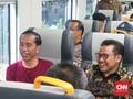 Cak Imin 'Tempel' Jokowi di Peresmian KA Bandara