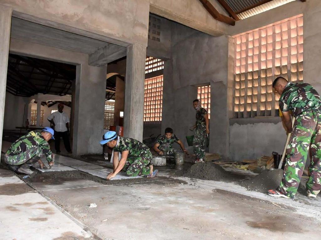 Satgas Kizi TNI Konga XX-N/Monusco beranggotakan 175 Prajurit TNI dari ketiga angkatan (150 personel TNI AD, 19 personel TNI AL dan 6 personel TNI AU) sebagian besar berasal dari Batalyon Zeni Konstruksi 11/DW dan Batalyon Zeni Konstruksi 12/KJ yang berdomisili di Jakarta dan Palembang. Pool/Puspen TNI.
