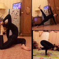 Olahraga yoga termasuk olahraga favorit Inul. Beberapa kali ia mengunggah foto saat dirinya melakukan berbagai pose yoga. (Foto: Instagram/inul.d)