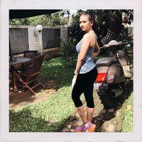 Di tengah matahari yang terik, tetap semangat berolahraga seperti Vanessa! (Foto: Instagram/vanessaangelofficial)