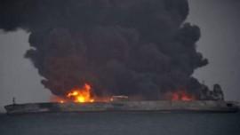 Tabrakan Kapal Tanker dan Kapal Kargo di Cina, 32 Hilang