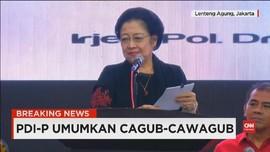 VIDEO: Megawati Umumkan Enam Cagub PDIP di Pilkada Serentak