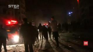 VIDEO: Detik-detik Ledakan di Idlib Suriah, 23 Tewas
