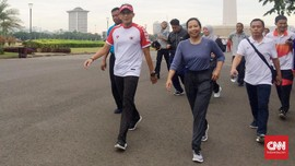 Lari Bareng, Sandiaga dan Rini Soemarno Bahas Infrastruktur
