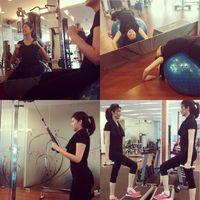 Istri dari Indra Perdana Sinaga atau yang disapa Naga vokalis band Lyla, yaitu Feby Rizky Andhika Siregar. Dilihat dari lama Instagramnya, Feby kerap menyambangi gym untuk fitnes. (Foto: Instagram/@febyriz)