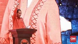 Jokowi Beri Arahan di Rakernas PDIP, 3 Kali Teriak Merdeka