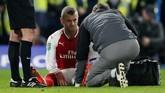 Arsenal harus kehilangan Jack Wilshere karena cedera dan digantikan Mohamed Elneny pada menit ke-57. (REUTERS/David Klein)