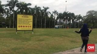 Sudah 50 Persen Pagar Pembatas Taman Monas Dicopot