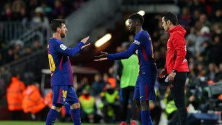 Barcelona Tak Kecewa Dembele Cedera Lagi