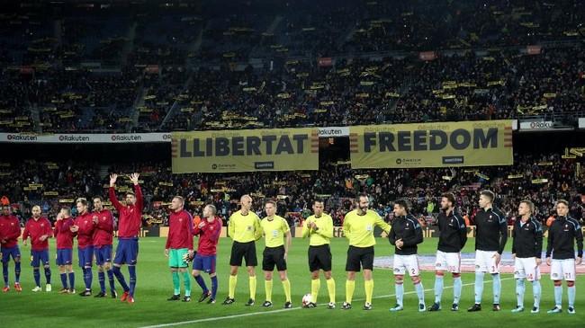 <p>Celta Vigo datang ke Camp Nou setelah berhasil menahan imbang Barcelona 1-1 pada leg pertama di Stadion Balaidos, pekan lalu. (REUTERS/Albert Gea)</p>