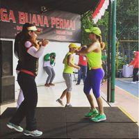 Bahkan di beberapa postingan yang diunggah, ia kerap menjadi instruktur olahraga. Foto: Instagram/@qq_fatmala