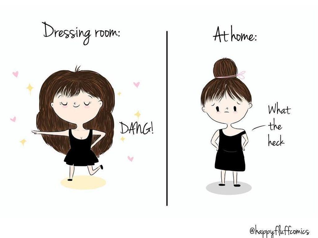 Bikin Senyum! 13 Ilustrasi Kocak Ini Gambarkan Kehidupan Wanita Sehari-hari