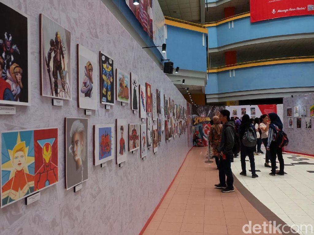 Ini karya-karya yang terinspirasi dari Marvel. Foto: Marvel Creative Day (Agnes/detikHOT)