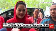 Calon Kepala Daerah Jawa Timur Menjalani Tes Kesehatan Tahap