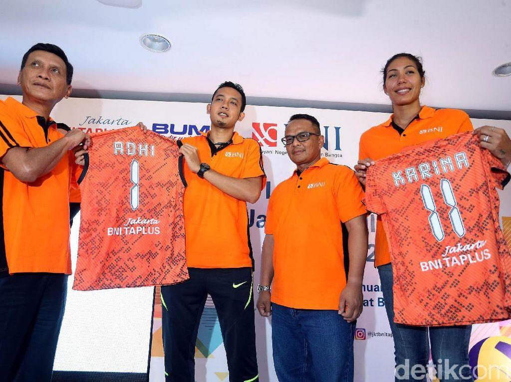 BNI menurunkan dua tim dalam kompetisi bola voli kasta tertinggi tahun ini. Mereka menurunkan 29 pemain dengan 15 pemain tim putri dan 14 pemain tim putra.