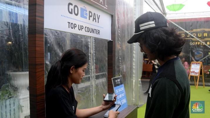 Go-Pay saat ini sudah bisa digunakan di Modern Town market, Tangerang.