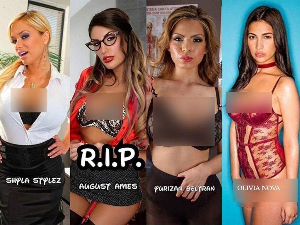 Beberapa media luar negeri menyoroti kematian para bintang porno dalam 3 bulan ini. Total sudah ada empat wanita yang tewas dalam 3 bulan ini. Foto: Dok. Instagram