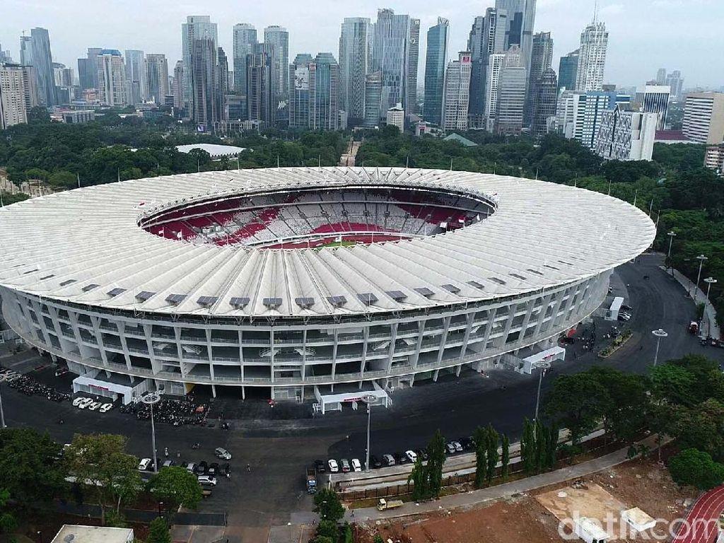 Stadion kebanggaan Indonesia itu kini telah siap digunakan untuk menggelar pertandingan.