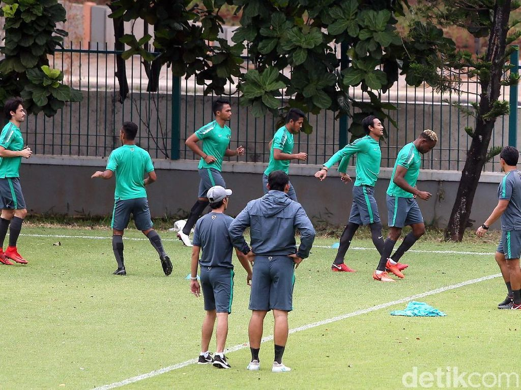 Beginilah suasana latihan timnas Indonesia jelang menghadapi Islandia.