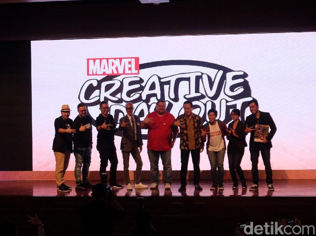 Marvel Creative Day Out 2018 kembali hadir di Indonesia hari ini di Universitas Bina Nusantara (Binus), Jakarta Barat. Foto: Marvel Creative Day (Agnes/detikHOT)