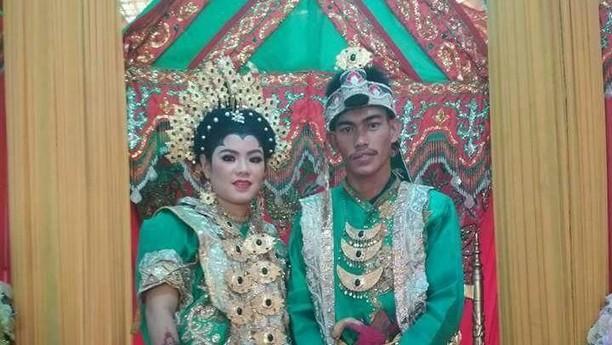Foto: Pernikahan Pria yang Pingsan Saat Mantan Nyanyi di Resepsi