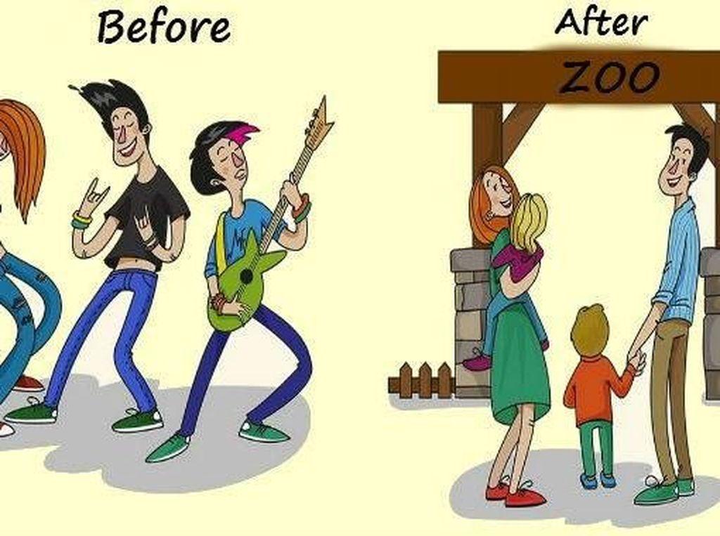 Boleh saja jadi anak band sebelum nikah. Tapi setelah punya anak tentu lebih bahagia memilih menghabiskan waktu dengan keluarga kecil. Foto: istimewa
