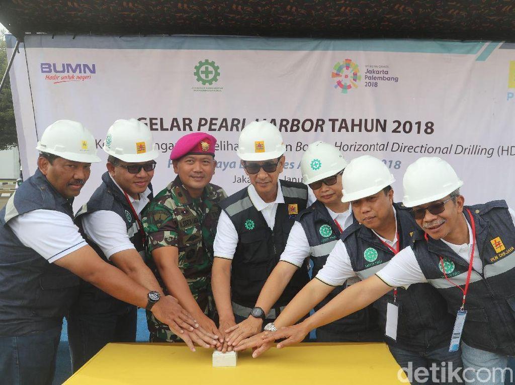 Acara perermian tersebut digelar di Komplek Marinir Cilandak, Jakarta, Kamis (11/1/2018).